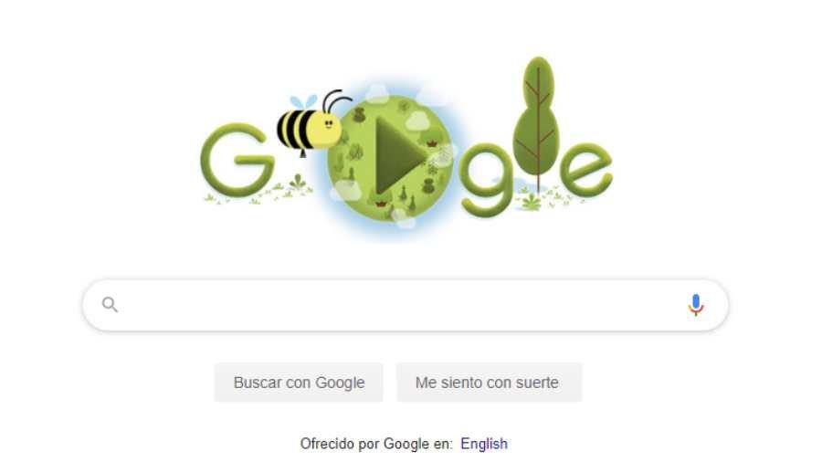 doodle del día de la tierra 2020 y la importancia de la abeja