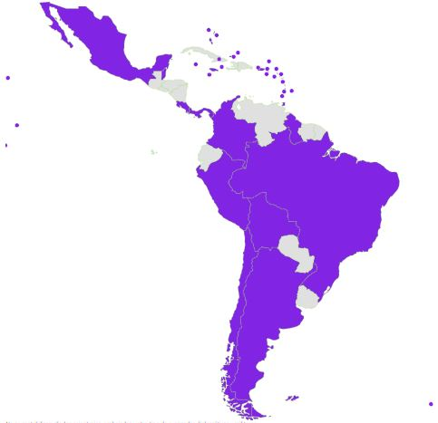 presencia de CommonWealth Nation y Estados Unidos en Latinoamerica
